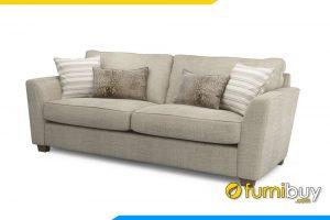Hình ảnh ghế sofa phòng khách với màu kem rất hiện đại, sang trọng