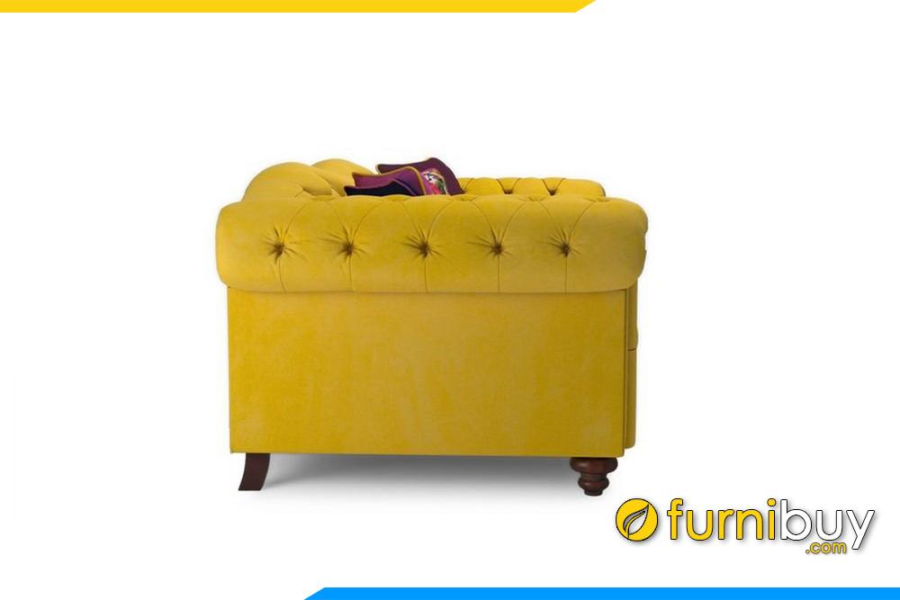 Ghế sofa tân cổ điển FB20007 được thiết kế hẹp bề ngang rất thích hợp cho phòng khách hẹp