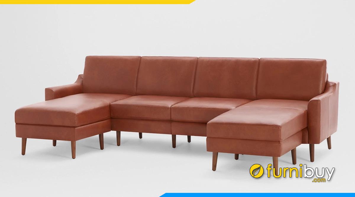 Ghế sofa da cho phòng khách rộng
