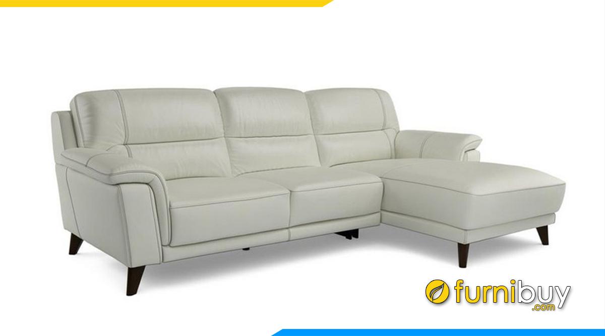 Mẫu ghế sofa phòng khách đẹp chất liệu da