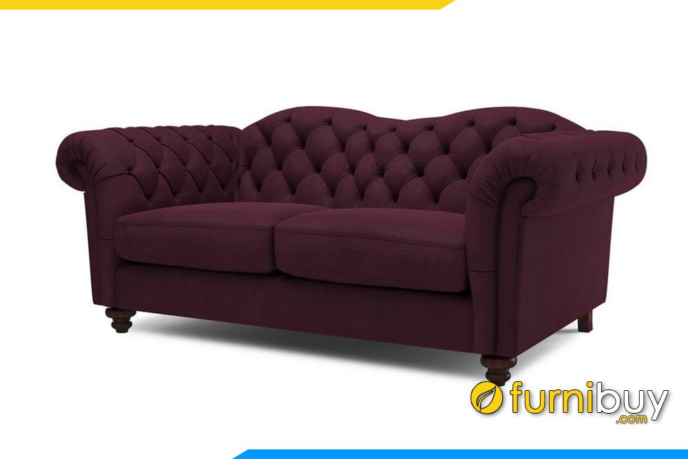 Mẫu sofa phòng khách với gam màu tím ấm áp rất độc đáo