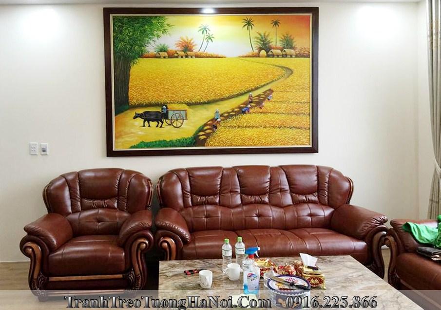 Tranh sơn dầu trang trí tường đẹp, giá rẻ