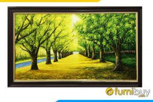 Tranh rừng cây màu xanh tốt cho người mệnh Hỏa Amia 383
