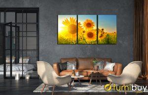 Tranh hoa hướng dương treo tường đẹp AmiA HD128