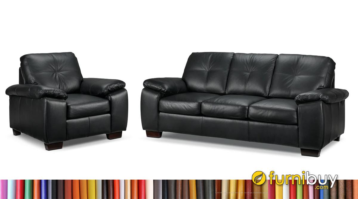 Bộ ghế sofa da đẹp kê phòng khách