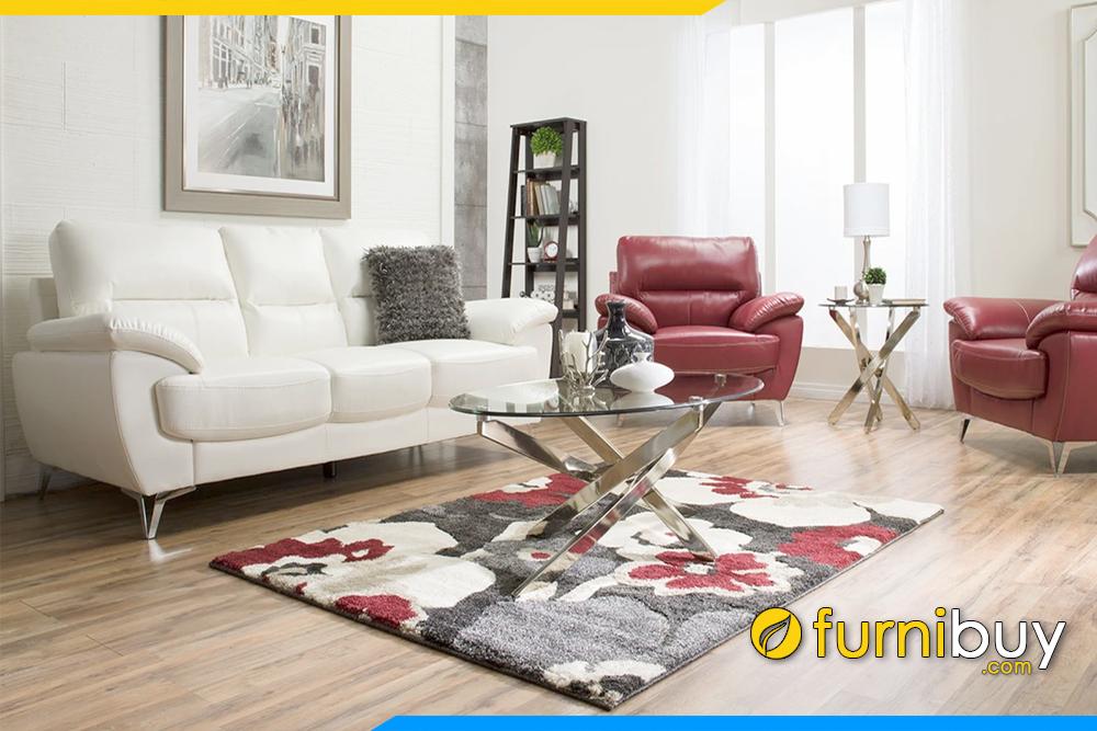 Với chất liệu da cực kỳ sang trọng lại dễ dàng vệ sinh ghế sofa mỗi khi bị dính bẩn
