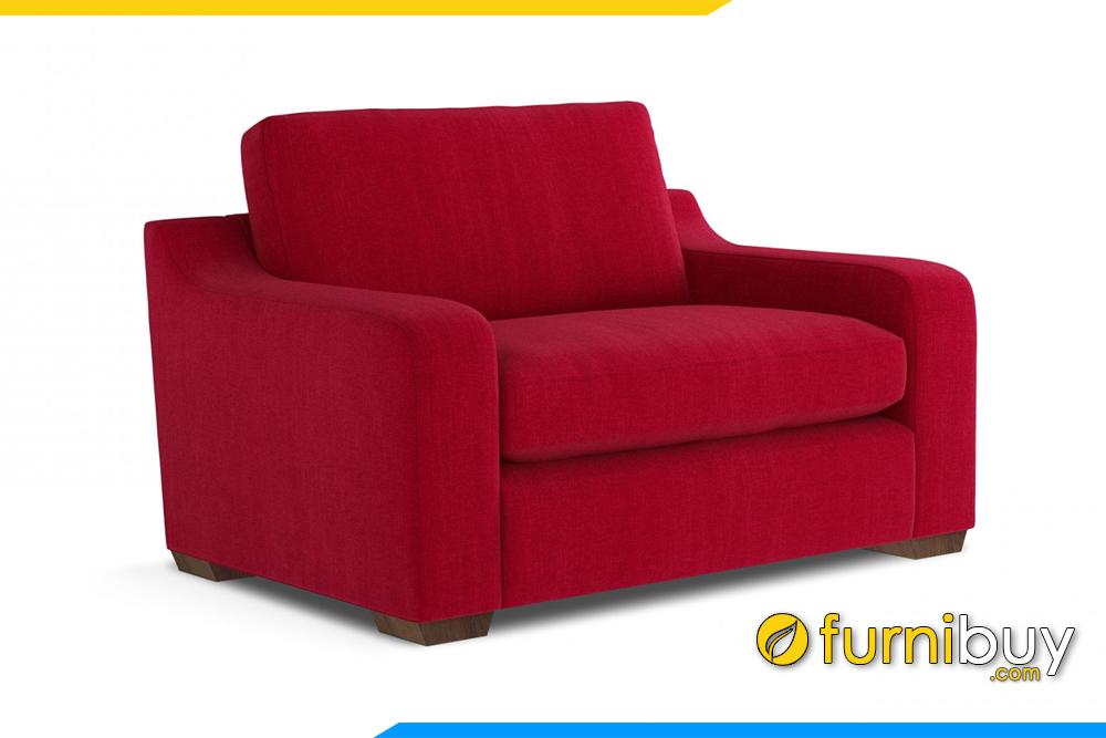 Ghế sofa đơn nỉ FB20103 với gam màu đỏ nổi bật ấm cúng