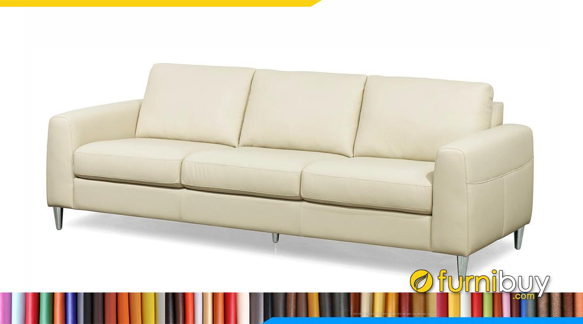 Mẫu ghế sofa da đẹp 3 chỗ ngồi
