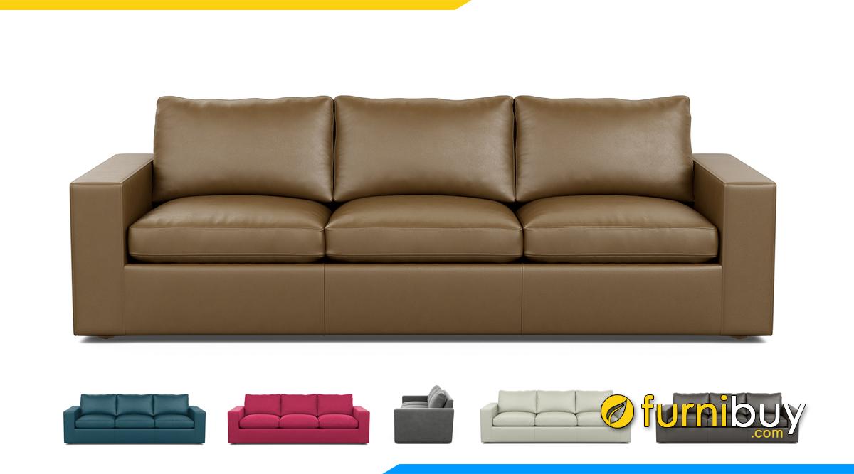 Kiểu thiết kế sofa đẹp chất liệu da