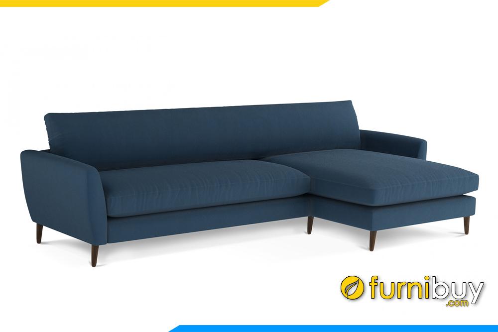 Kiểu dáng hiện đại kết hợp chân đế cao làm tôn dáng cho bộ sofa trở lên bắt mắt hơn