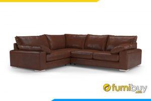 Ghế sofa với gam màu nâu sang trọng cho phòng khách gia đình