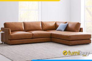 Ghế sofa với gam màu da bò cực kỳ sang trọng và nổi bật cho phòng khách nhà bạn
