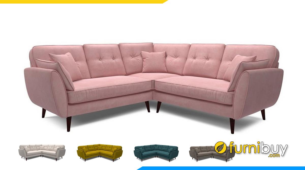 Ghế sofa góc L bọc vải nỉ