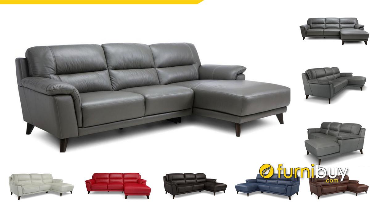 Ghế sofa phòng khách chất liệu da