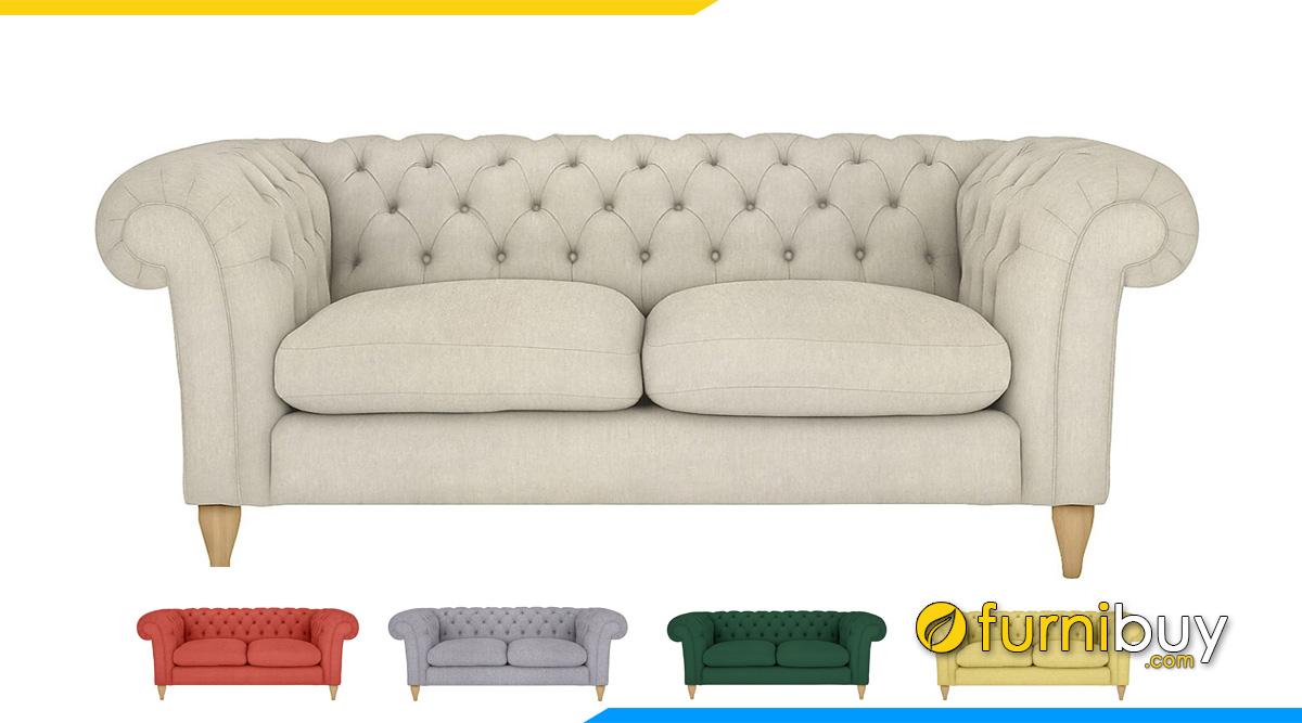 Sofa tân cổ điển bọc nỉ