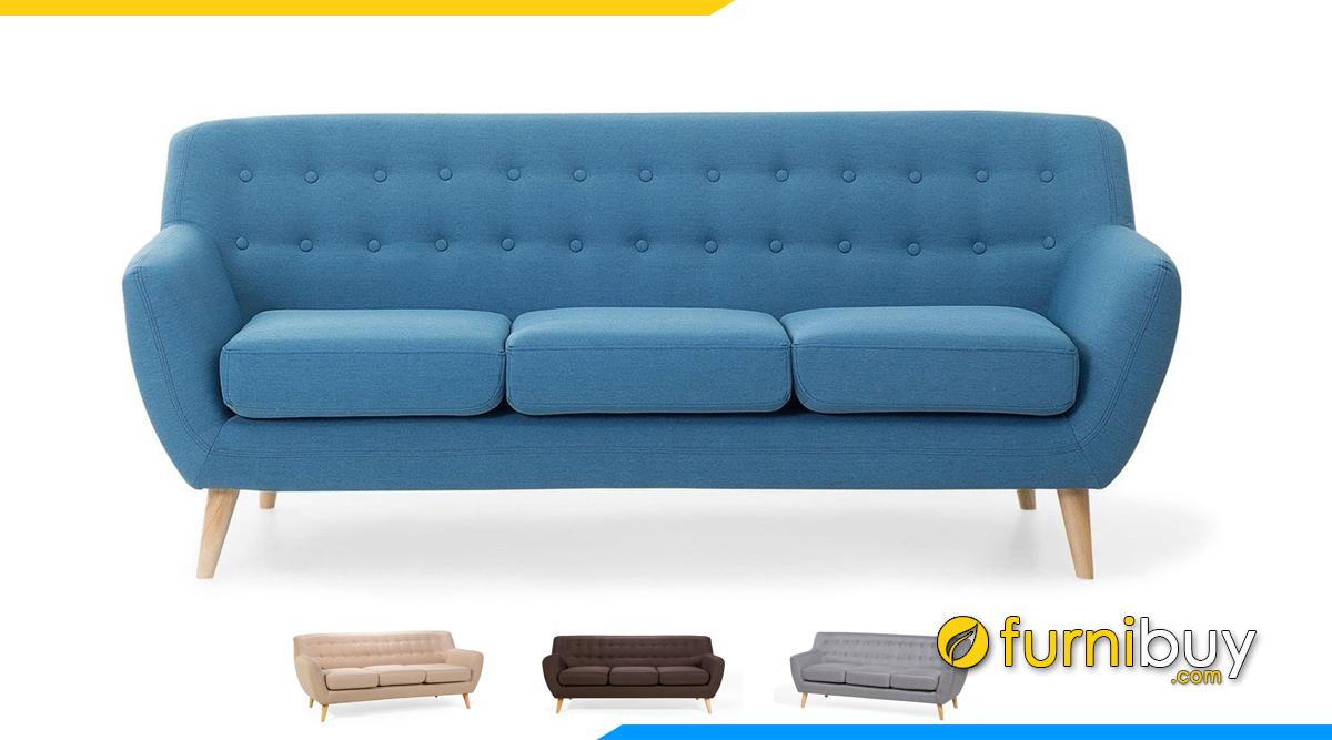 Ghế sofa vải nỉ đẹp dạng văng dài
