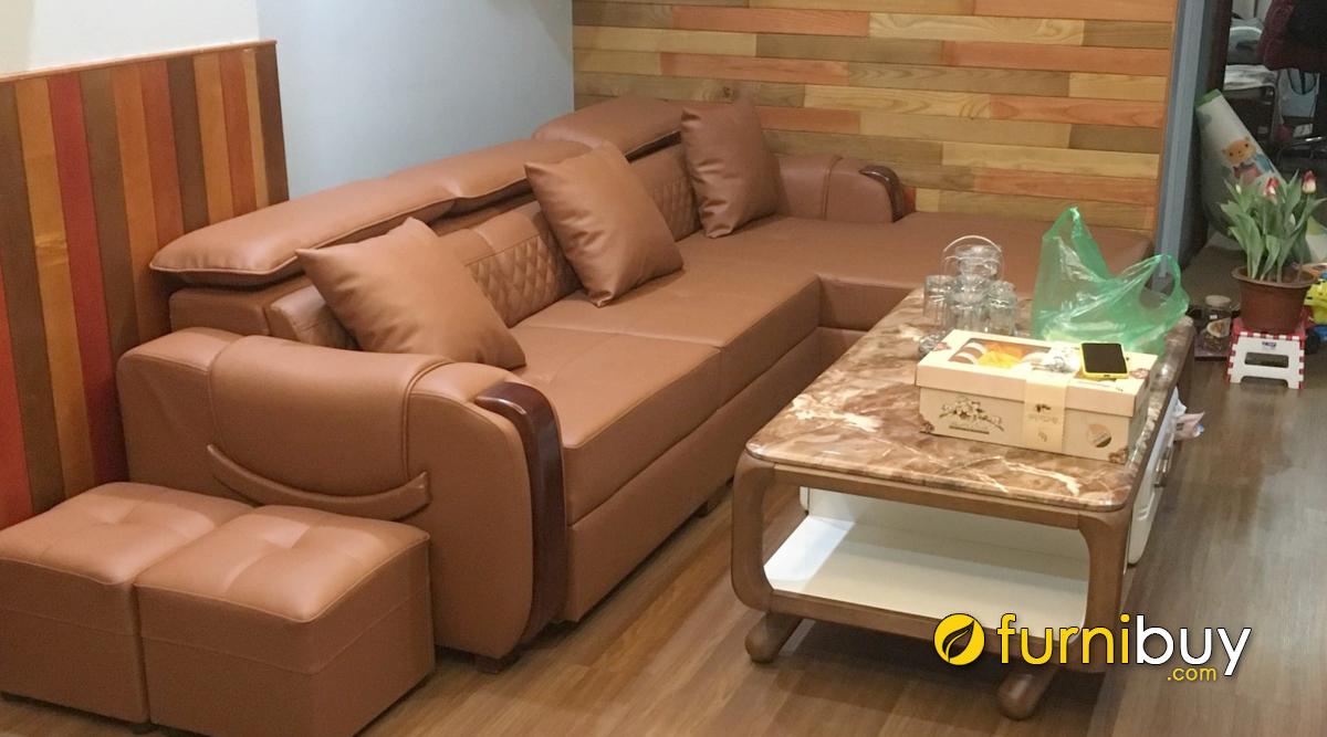 Mẫu sofa phòng khách kiểu góc