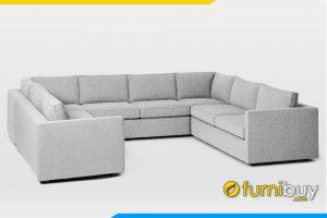 Ghế sofa góc FB20117 với chất liệu nỉ bọc bên ngoài rất mềm mại và thoáng khí