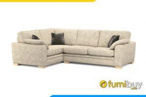 Bộ ghế sofa góc nỉ đẹp cho phòng khách hiện đại FB20040