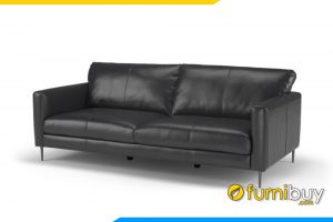 Ghế sofa văng nhỏ FB20045 với gam màu đen huyền bí sang trọng cho phòng khách