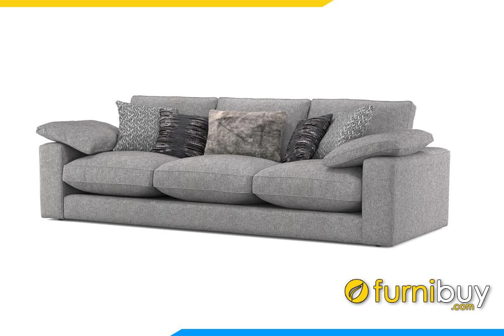Ghế sofa văng được bọc chất liệu nỉ mềm mại rất được mọi gia đình ưa chuộng hiện nay