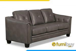 Mẫu ghế sofa có nêm ngồi và tựa lưng êm ái tạo cảm giác thoải mái cho người sử dụng