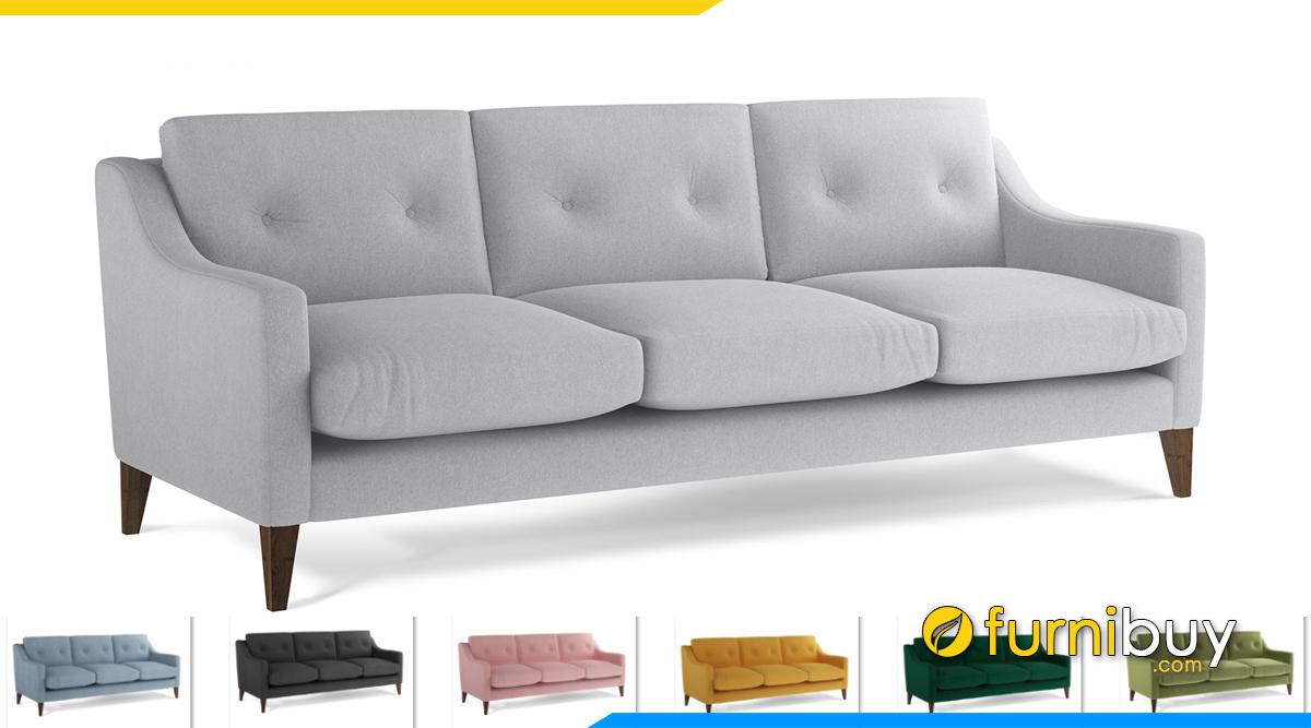 Sofa văng nỉ kiểu truyền thống
