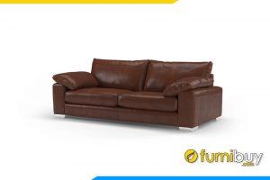 Ghế sofa FB20035 với chất liệu da phù hợp với gia đình có trẻ nhỏ