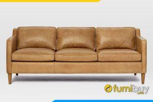 Mẫu ghế sofa với gam màu da bò cho phòng khách sang trọng FB20112