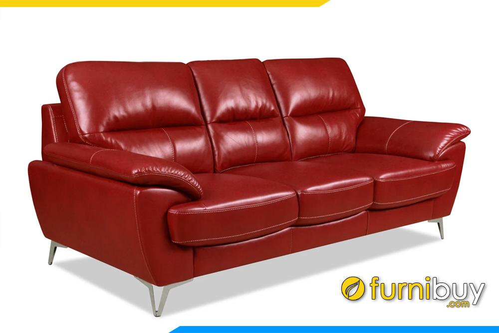 Ghế sofa được thiết kế chân đế inox cao giúp dễ dàng vệ sinh và tăng sự thanh thoát tôn dáng cho ghế sofa bắt mắt hơn