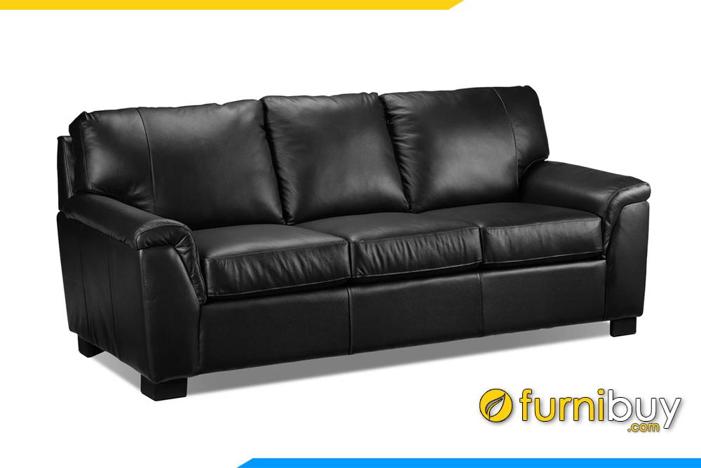 sofa da mau den dang vang 3 cho ngoi