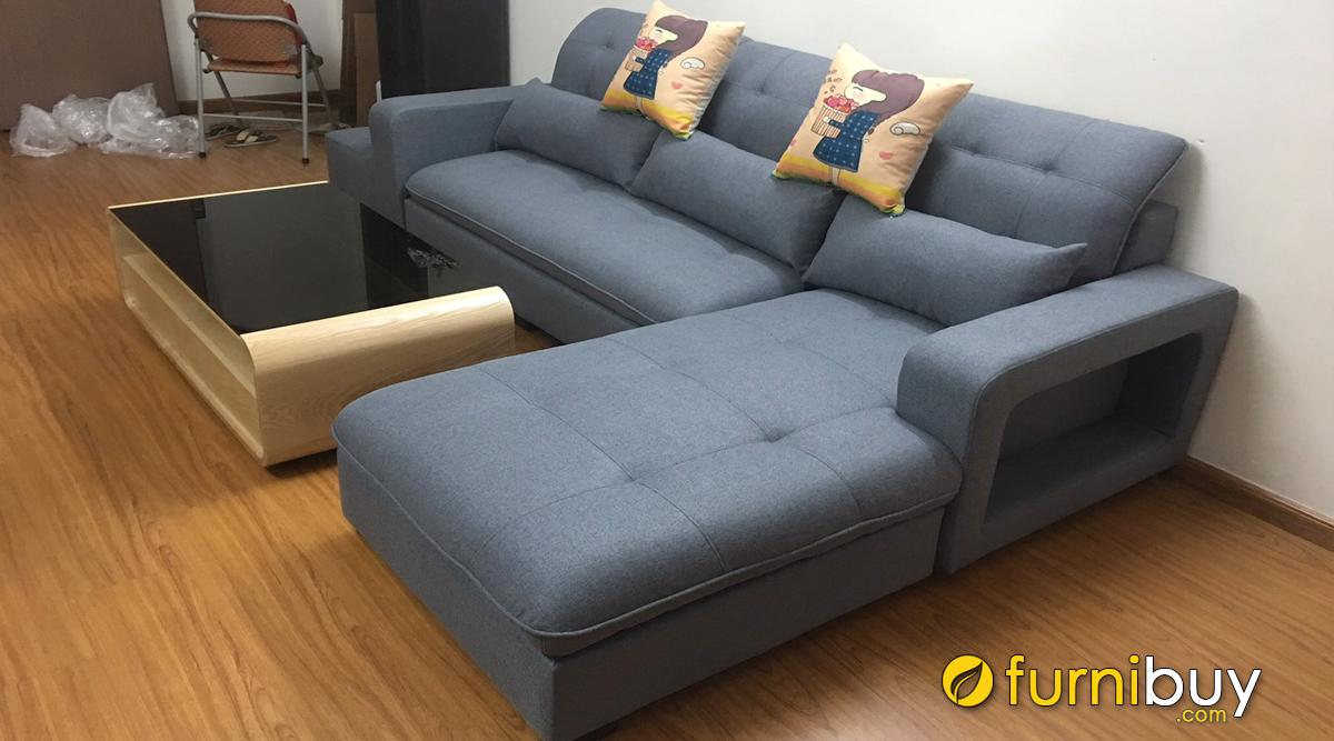 Hình ảnh thực tế sofa vải nỉ đẹp