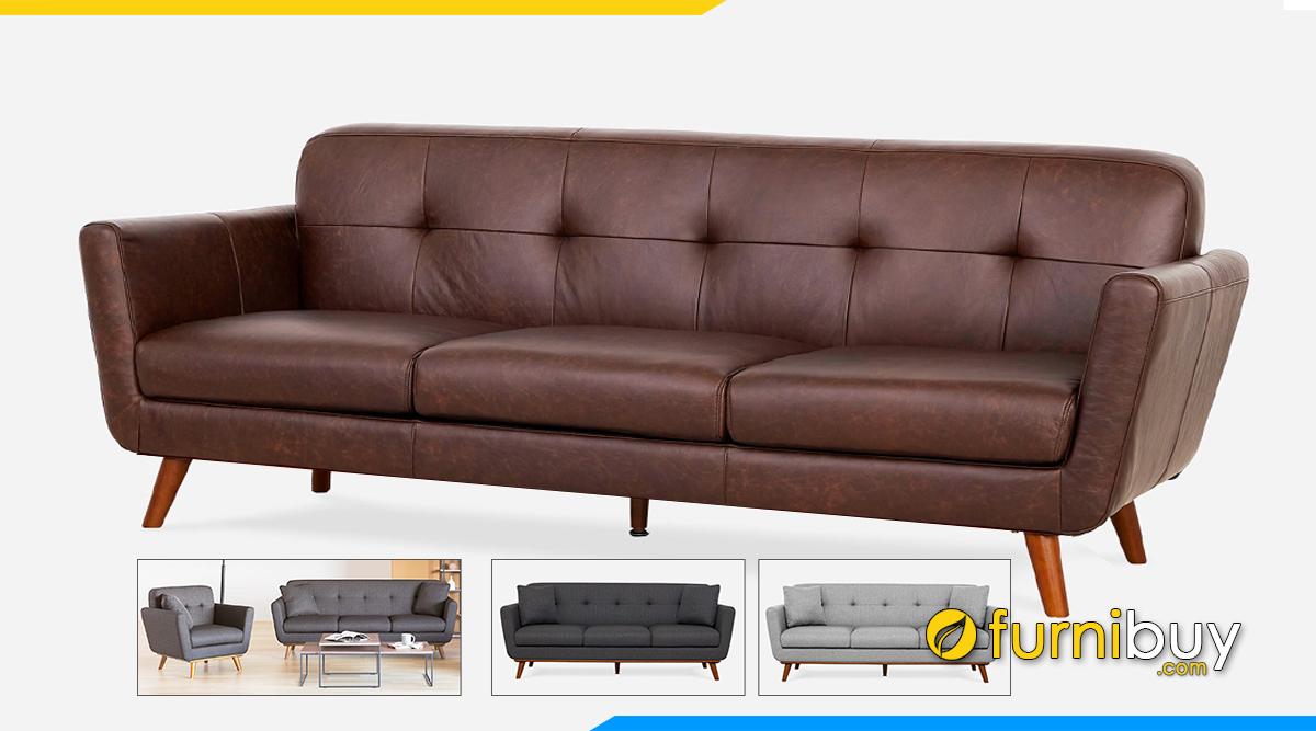 Mẫu sofa da đẹp nhỏ gọn