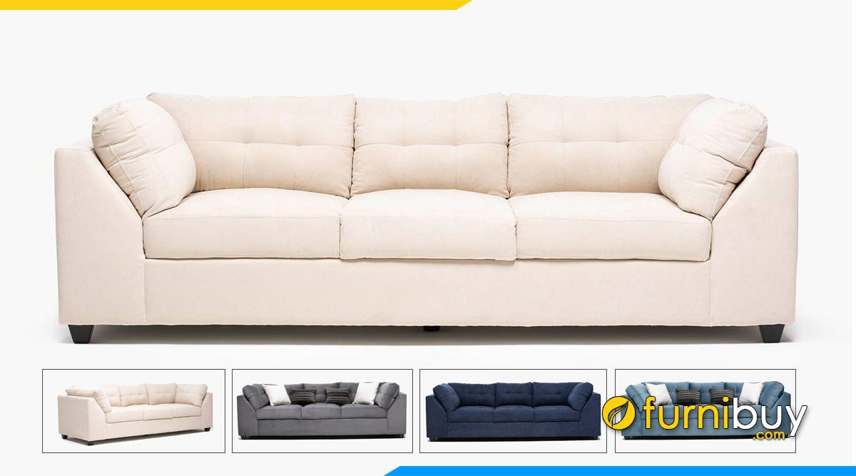 Hình ảnh sofa nỉ đẹp dạng văng dài