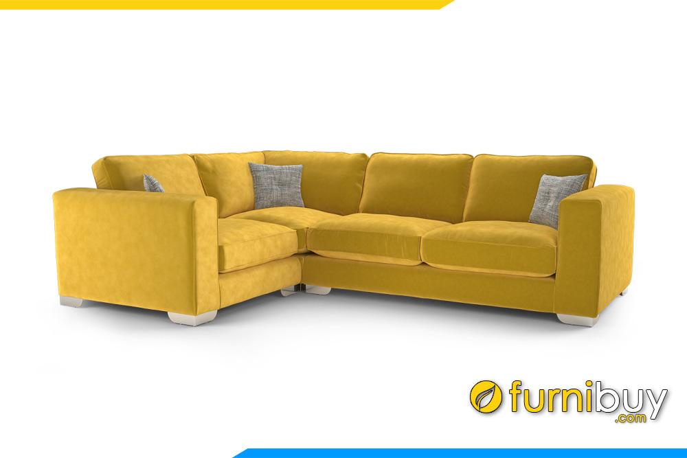 Ghế sofa với gam màu vàng nổi bật phá cách cho phòng khách hiện đại trẻ trung