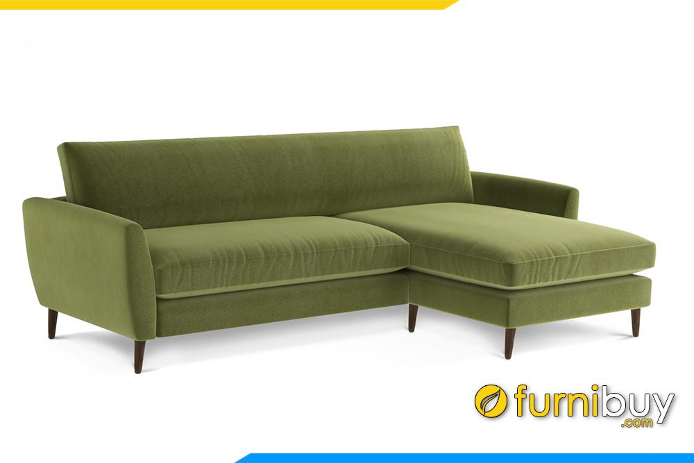 Ghế sofa với gam màu xanh tạo không gian dễ chịu hài hòa cho phòng khách