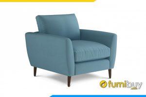 Ghế sofa đơn FB20102 được làm chất liệu nỉ hiện đại