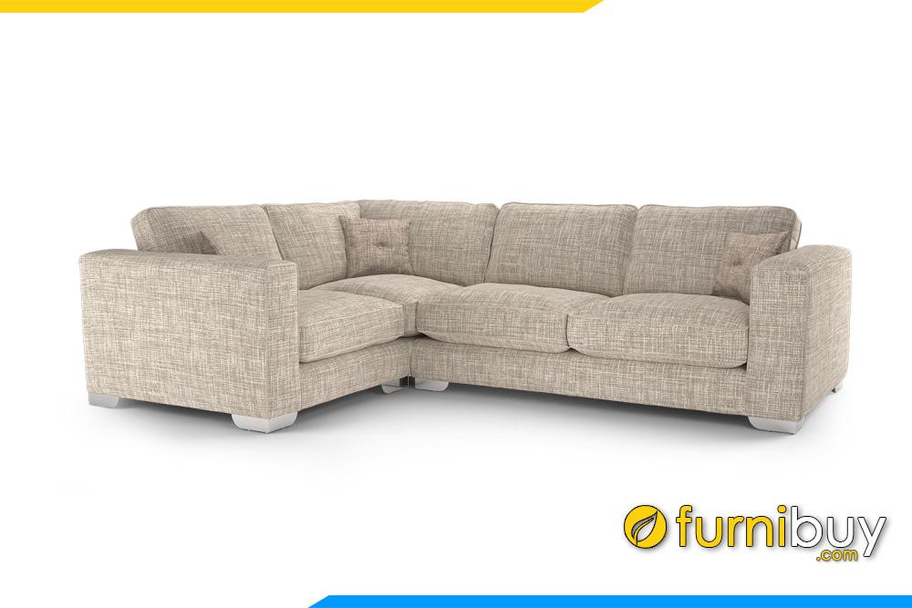 Kiểu dáng gọn gàng, tựa tay rộng tạo sự chắn chắn không bị cục mịch cho bộ sofa