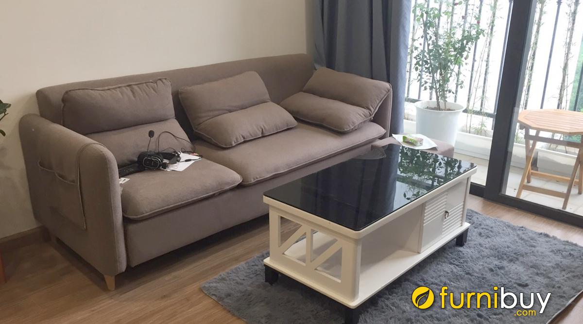 Sofa văng nỉ nhỏ 2 chỗ ngồi
