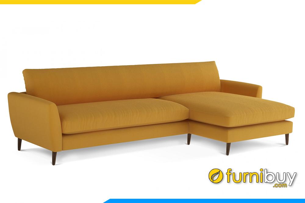 Với kiểu dáng chữ L gọn gàng dễ dàng sắp xếp vị rí kê sofa trong phòng khách