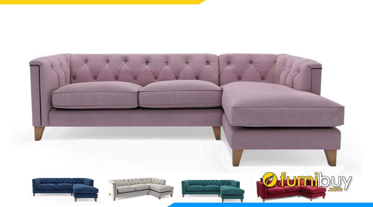 Sofa nỉ đẹp kiểu tân cổ điển