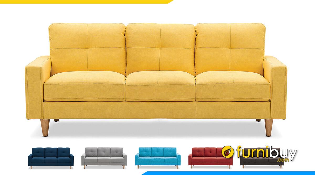 Ghế sofa 3 chỗ ngồi bọc nỉ vải