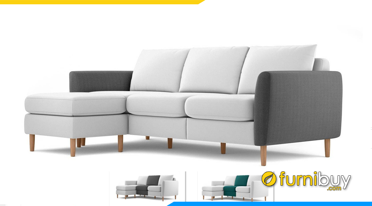 Sofa bọc nỉ vải đa dạng màu sắc