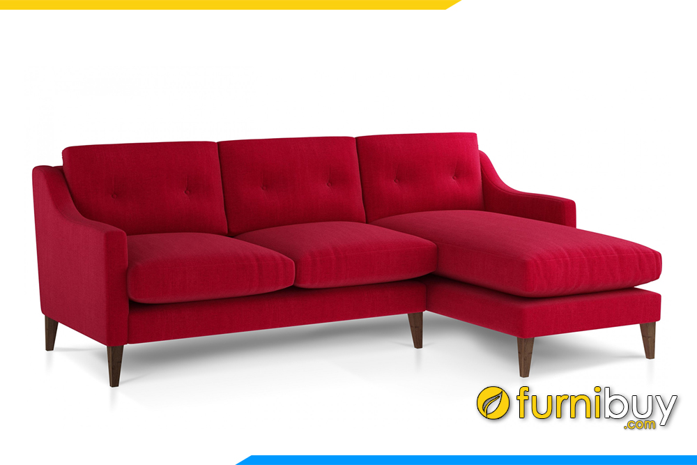 Hình ảnh mẫu ghế sofa góc nỉ hiện đại FB20097