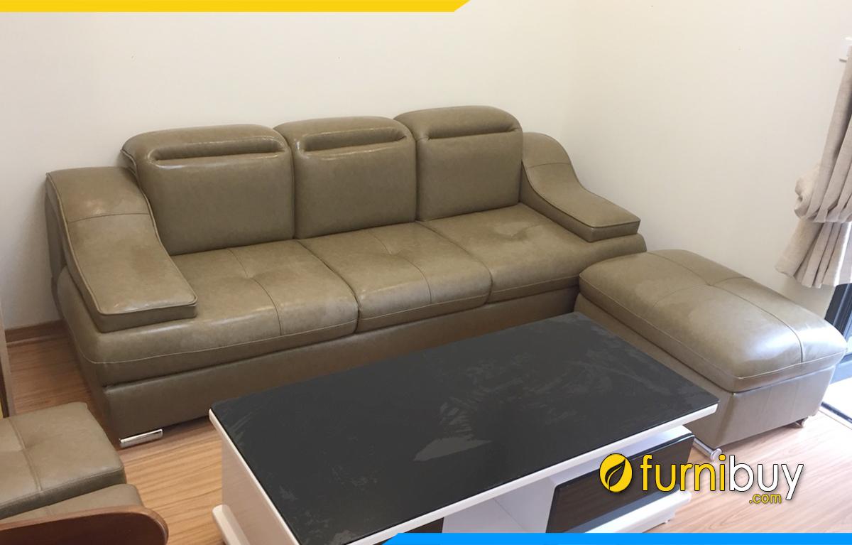 Phòng khách nhỏ kê sofa văng