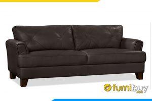 Ghế sofa được bọc chất liệu da cao cấp rất sang trọng