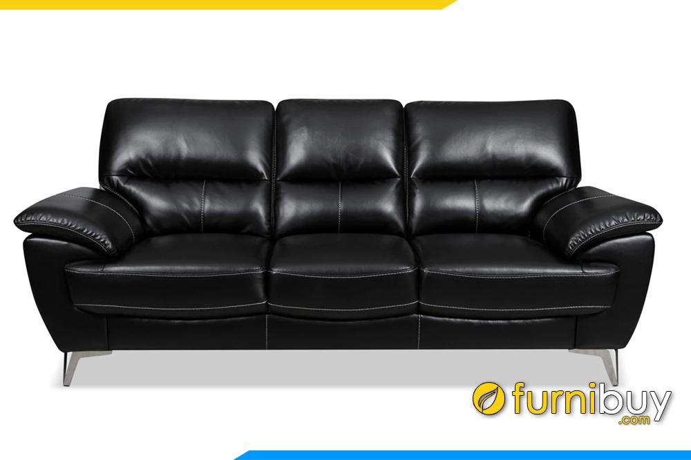 sofa da mau den dang vang sang trong chan de inox