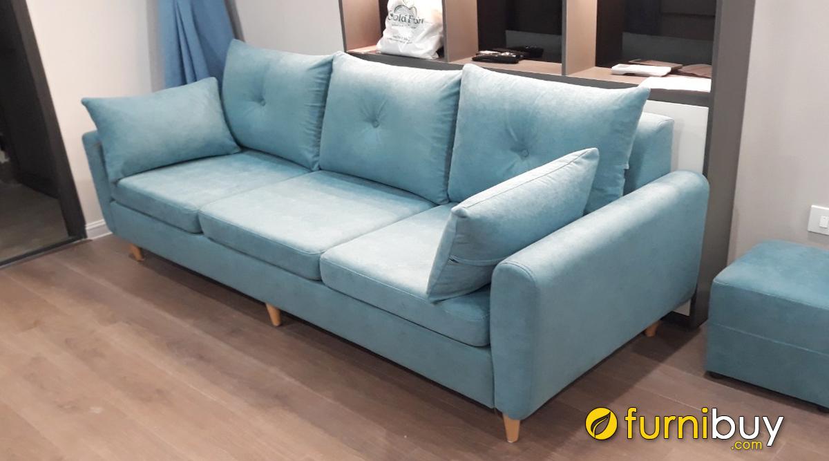 Ghế sofa văng nỉ 3 chỗ ngồi