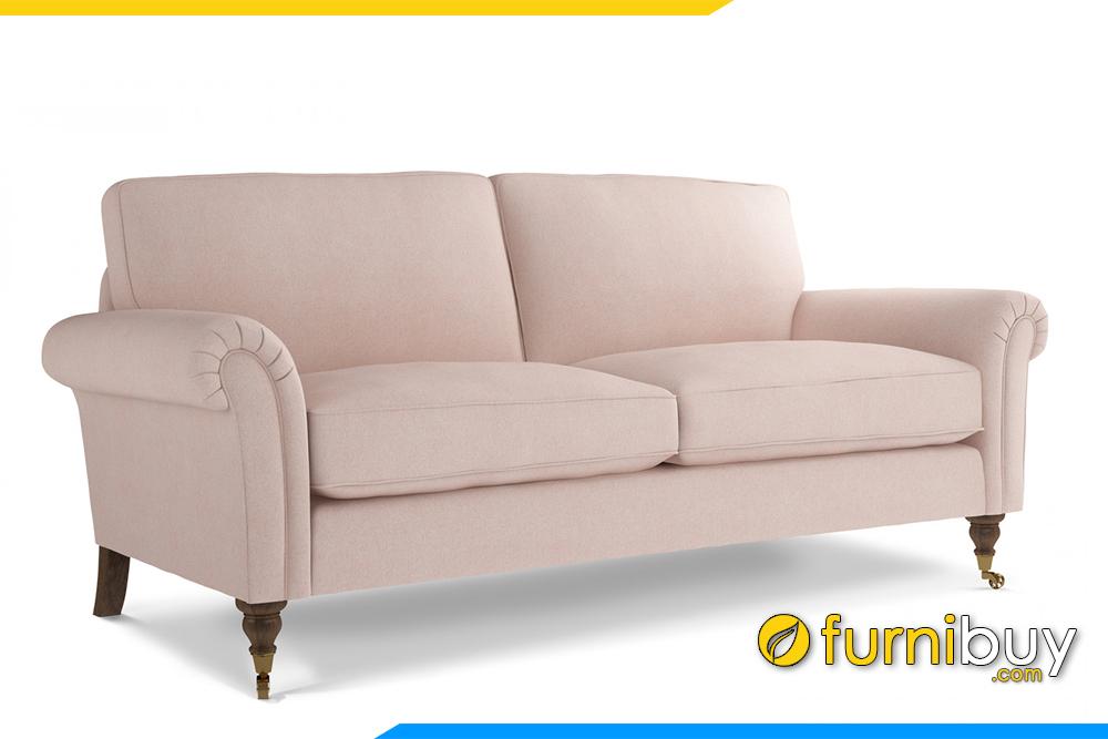 Hình ảnh mẫu sofa văng phong cách Bắc Âu với 2 chỗ ngồi hiện đại FB20098