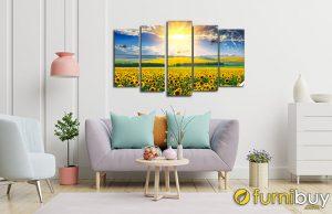 Tranh hoa hướng dương amia 1540